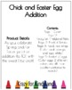 Chick and Easter Egg Addition Craft for Kindergarten
