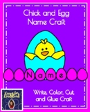 Easter, Spring Craft for Kindergarten: Chick and Name Eggs