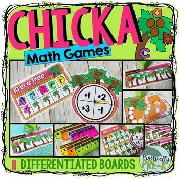 Chicka Boom Math Games- Subitizing, Shapes, Numerals, 10 Frames, & More!