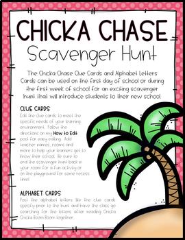CHICKA CHASE SCAVENGER HUNT