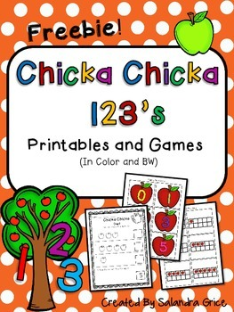 Chicka Chicka 123's- Freebie!