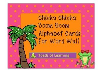 Chicka Chicka Alphabet Word Wall Cards