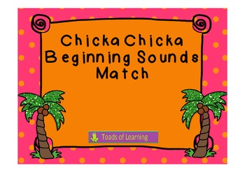 Chicka Chicka Beginning Sounds Match