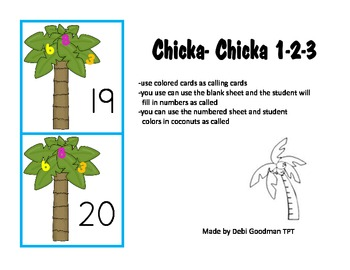 Chicka Chicka Boom Boom 123-Number Recognition to 20