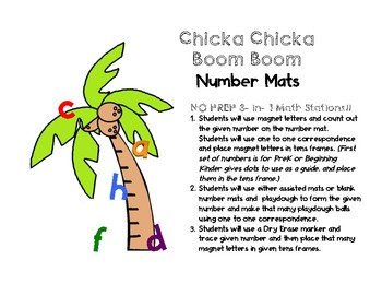 Chicka Chicka Boom Boom 3-in-1 No Prep Math Stations