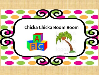 Chicka Chicka Boom Boom ABC Book and Task Cards