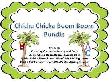 Chicka Chicka Boom Boom ABC & 123 Math and Literacy Activities Bundle