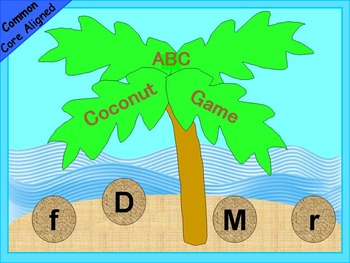 Spring Activities ABC Coconut Game