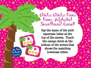 Chicka Chicka Boom Boom ABC Recognition Game (Smartboard/Promethean Board)