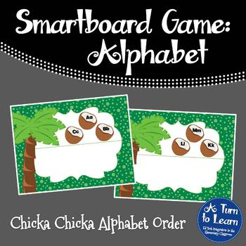 Chicka Chicka Boom Boom ABC Sequencing Game for Smartboard