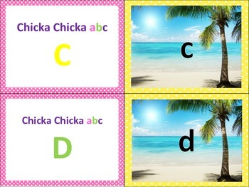 Chicka Chicka Boom Boom ABC Themed Matching Game RF.K.1d