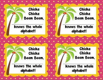 Chicka Chicka Boom Boom Alphabet Parent Note (Freebie)