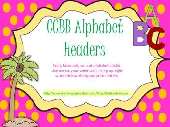 Chicka Chicka Boom Boom Alphabet Word Wall Headers