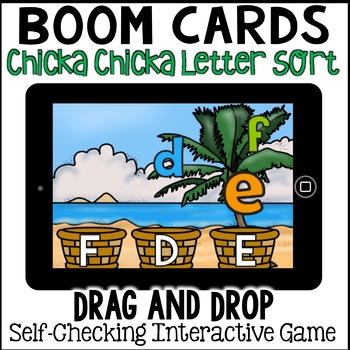 Boom Cards- Chicka Chicka Boom Boom Letter Sort (digital)