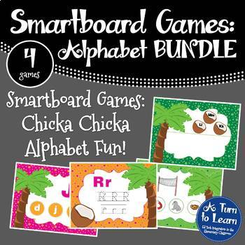 Chicka Chicka Boom Boom BUNDLE of 4 Smartboard or Promethean Board Games!
