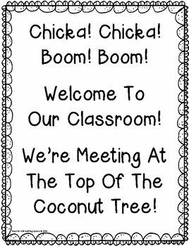 Chicka Chicka Boom Boom --- Back To School Class Book