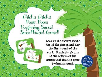 Chicka Chicka Boom Boom Beginning Sounds Game (Smartboard/Promethean Board)