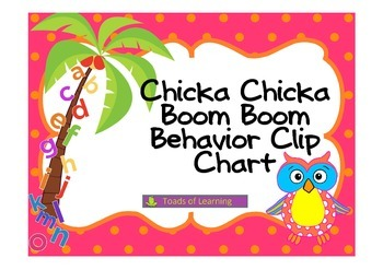 Chicka Chicka Behavior Clip Chart with Owls