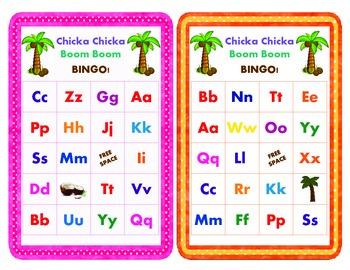 Chicka Chicka Boom Boom Bingo (26 Bingo Cards & 28 Call-Ou