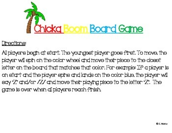 Chicka Chicka Boom Boom Board Game (2 Boards - Uppercase & Lowercase)