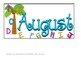 Chicka Chicka Boom Boom Calendar- August & September Piece