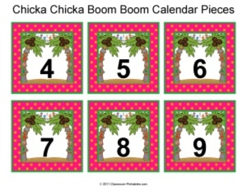 Chicka Chicka Boom Boom Calendar Set