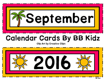 Chicka Chicka Boom Boom Calendar and Pattern Cards- Back to School - August