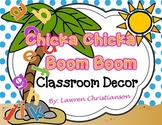 EDITABLE Chicka Chicka Boom Boom Classroom Decor & Organization BUNDLE