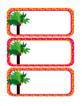 Chicka Chicka Boom Boom Cubby Labels or Name Cards