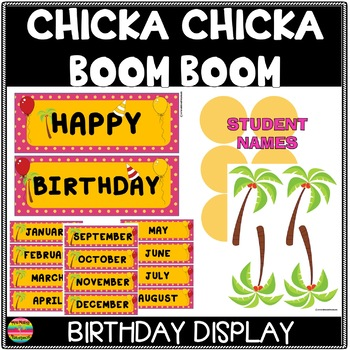 Chicka Chicka Boom Boom Happy Birthday Display