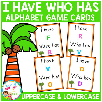 Alphabet I Have Who Has Game Cards