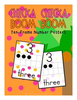 Chicka Chicka Boom Boom Inspired Ten-Frame Number Posters