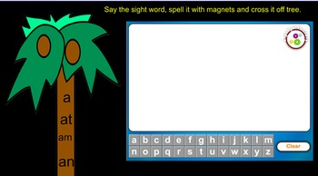 Chicka Chicka Boom Boom Kindergarten Sight Words Smartboard