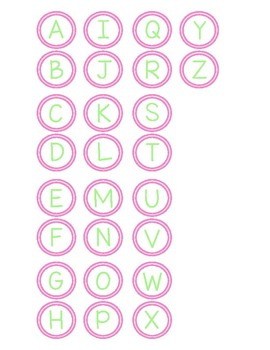 Chicka Chicka Boom Boom Letter Recognition Mats