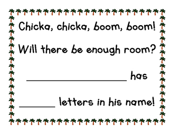 Chicka Chicka Boom Boom Letters in my Name Count
