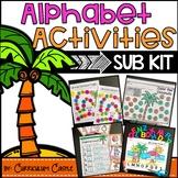 Sub Plans: Chicka Chicka, Boom Boom Book Companion Acitivites & Substitute Kit