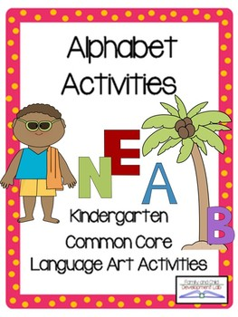 Alphabet Games, Centers, and Literacy Unit