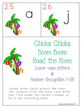 Chicka Chicka Boom Boom Lower Case Letter Read the Room