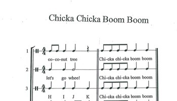 Chicka Chicka Boom Boom Music Lesson Plan