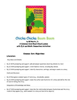 Chicka Chicka Boom Boom PACK 36 pgs of Common Core Activities!