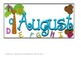 Chicka Chicka Boom Boom--- PATTERN-- Calendar- August & September Pieces