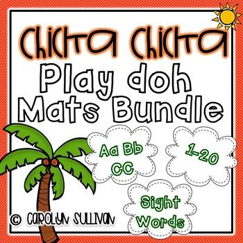 Chicka Chicka Boom Boom Play Doh Mats BUNDLE