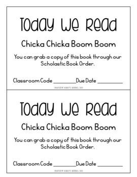 Chicka Chicka Boom Boom Preschool Lesson Plan (Highscope)