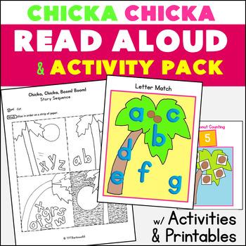 Chicka Chicka Boom Boom Read Aloud PACK ELA Math Activities 26 pgs.