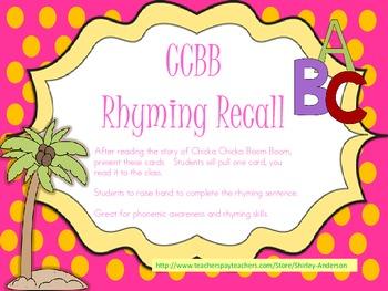 Chicka Chicka Boom Boom Rhyming Recall