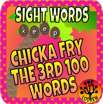 Chicka Chicka Boom Boom Sight Word Literacy Center Fry Words 101-200 Third 100