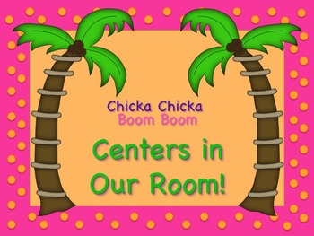 Chicka Chicka Boom Boom Station/Center Signs! Great for Classroom Management!