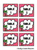 Chicka Chicka Boom Boom Table Labels