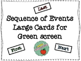 Large Sequence of Events Cards for Green Screen