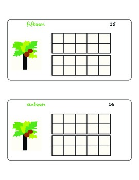 Chicka Chicka Boom Boom Ten Frame (numbers 11-20)